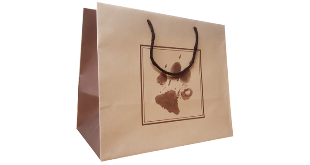 Un Laminated Paper Bag – Paw Print