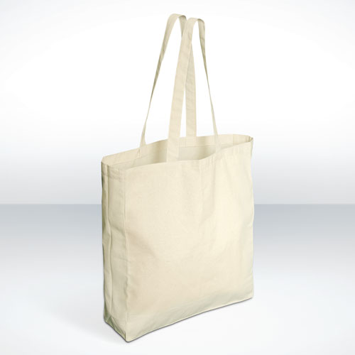 Cotton Bags Gusseted Long Handle