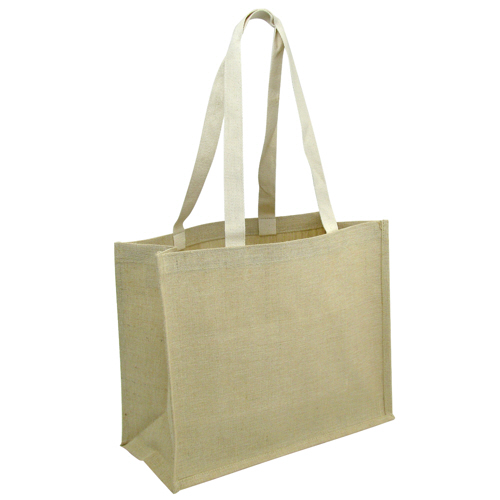 Jute Bags Long Cotton Web Handle With Gusset