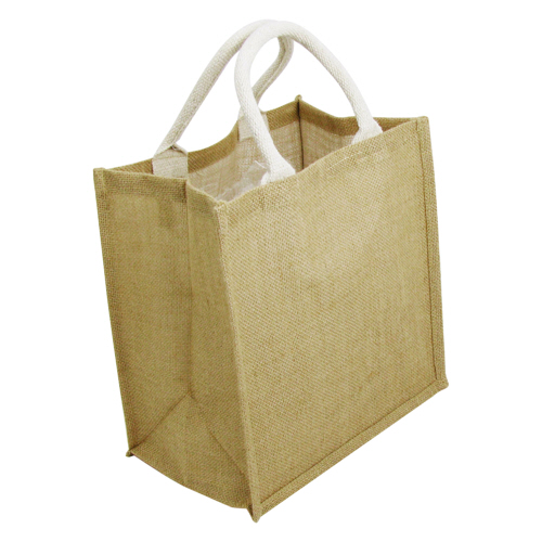 Jute Bags Short Cotton Web Handle With Gusset