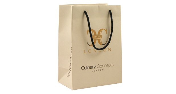 Un-Laminated Rope Handle Paper Bags Printed Carrier Bags