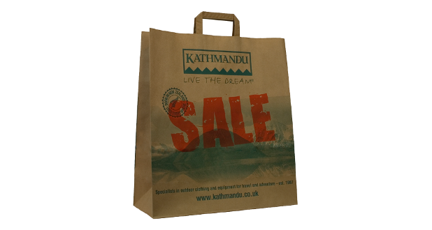 Tape Handle Paper Carrier Bags Printed Carrier Bags