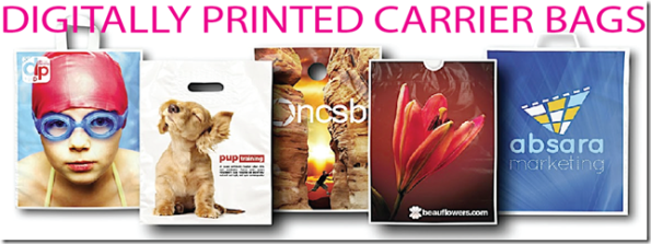 Digitally Printed Plastic Carrier Bags
