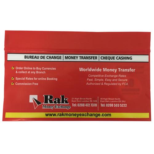 Plastic Money Envelopes