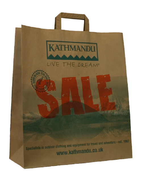 Counter Paper Bags Printed Carrier Bags