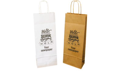 Twist Handle Paper Wine Bottle Bags