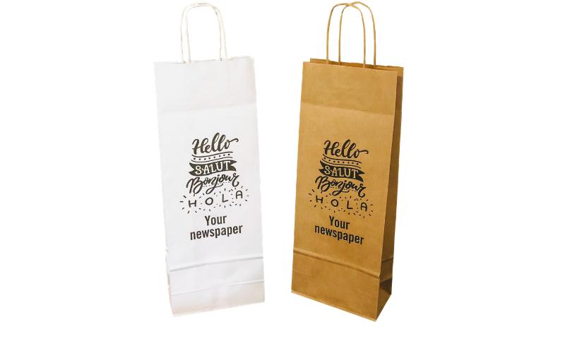 Twist Handle Paper Wine Bottle Bags