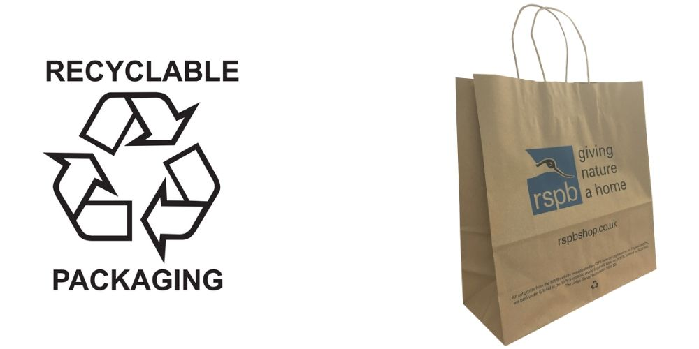 Recycled Paper Printed Carrier Bags