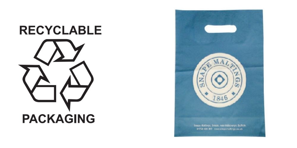 Recyclable Polythene Printed Carrier Bags