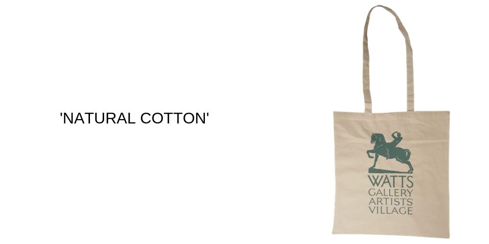 Natural Cotton Printed Carrier Bags