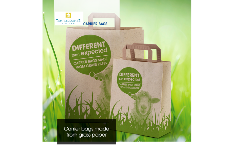 Grass Paper Carrier Bags